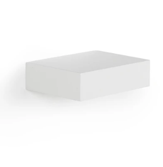 Floating White Wall Shelf