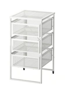White Metal Drawer Organizer