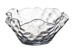Clear Dimpled Bowl