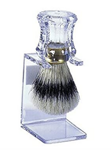 Bristle Shave Brush with Clear Stand