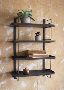 Metal Wall Unit 4 Shelves