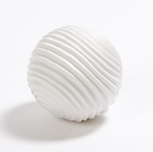 Textured Sphere Matte White