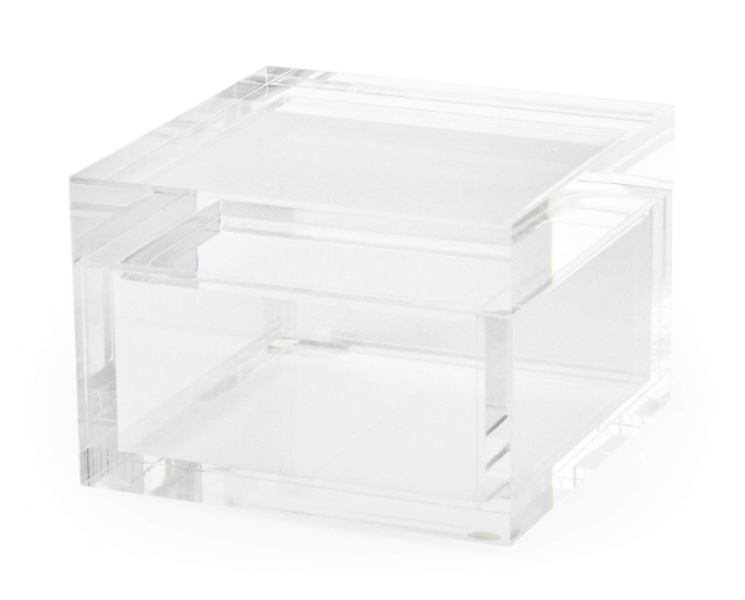 Clear Square Lucite Large Box