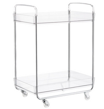 Load image into Gallery viewer, Clear Acrylic 2 Tiered Pantry Cart