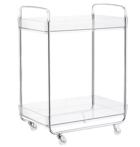 Clear Acrylic 2 Tiered Pantry Cart