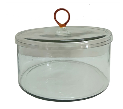 Glass Amber Canister