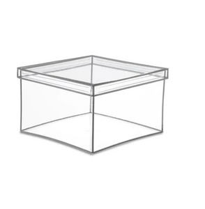 Clear Looker Boxes Silver Trim W/Lid
