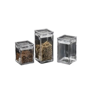 Square Acrylic Canister