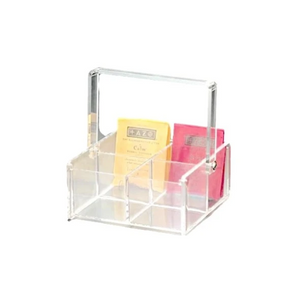 Acrylic 4-Compartment Tea Box with Handle