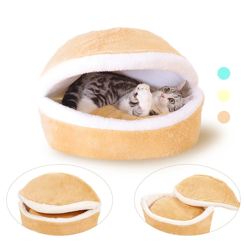 HOOPET Super Warm Clam Shell Bed