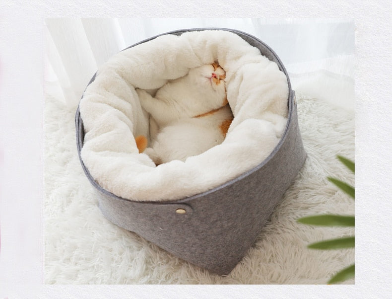 Hoopet Overstuffed Fleece Round Cat Bed