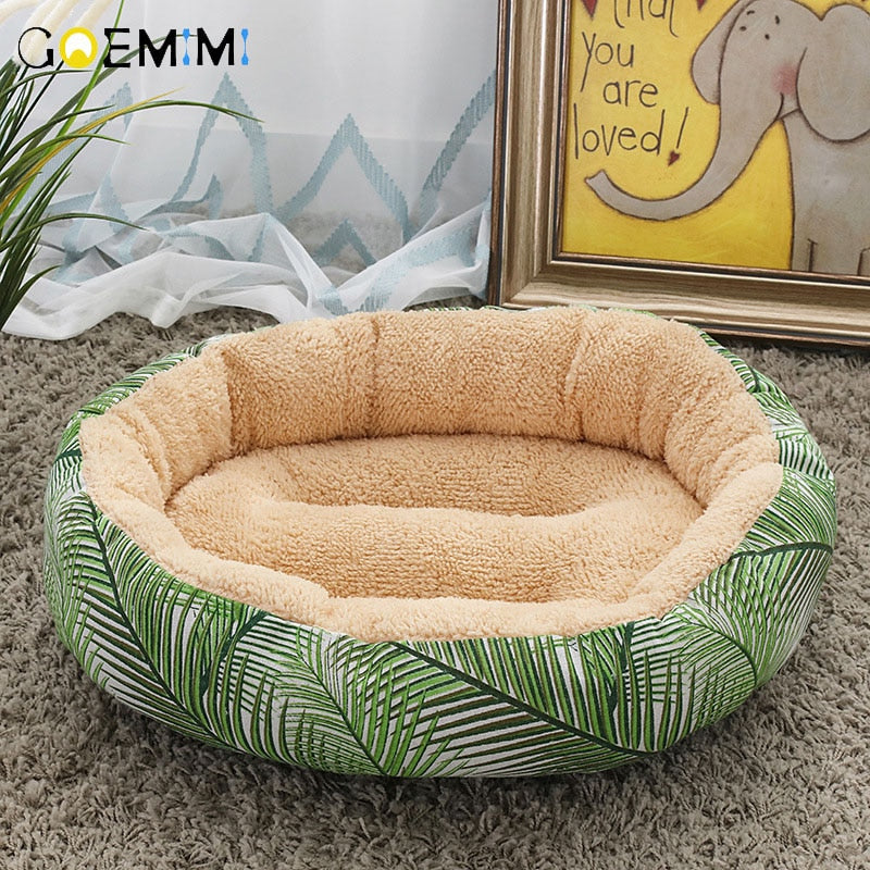 "20"" Diameter Large Cat Fleece Bed - 15 Designs"