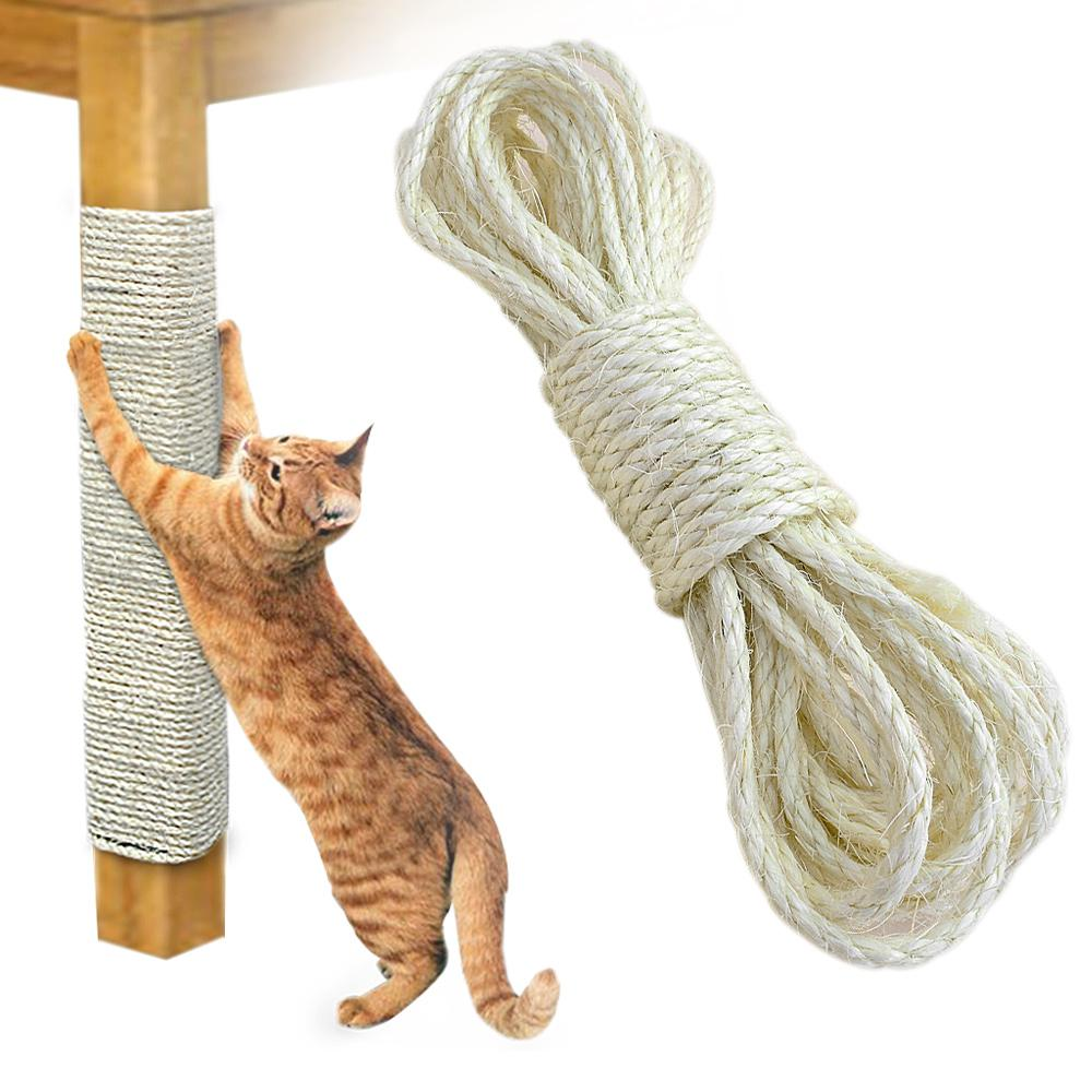 65 Feet Of 6mm Sisal Rope - DIY Wrap Anything For Your Cat