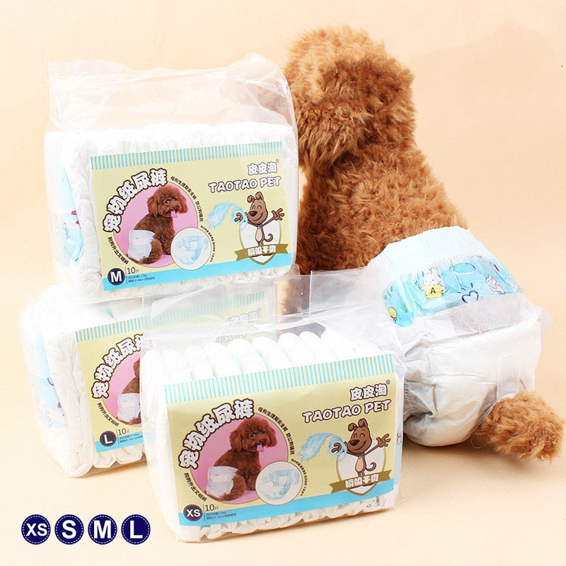 10 Count Disposable Pet Diapers
