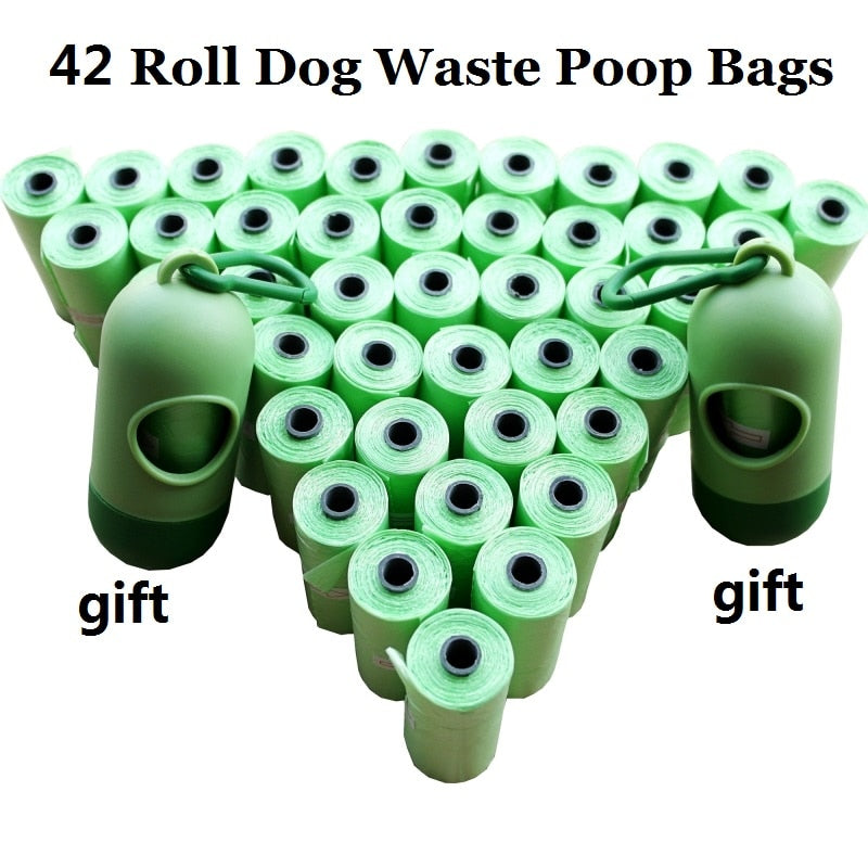 1Pack=12/20/42 Rolls Dog Poop Bags With Free Dispenser