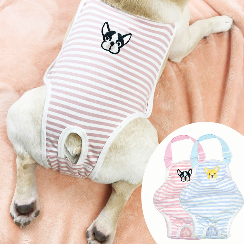 Cotton Sanitary Small Dog Suit