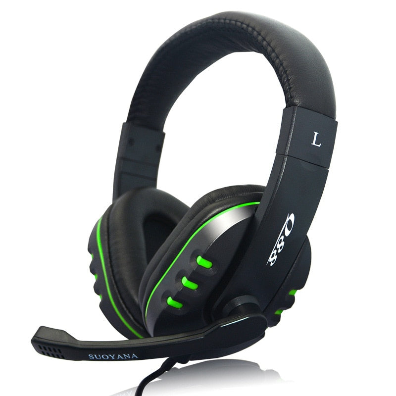 QearFun 3.5mm Wired Stereo Deep Bass Gaming Headphones With Microphone