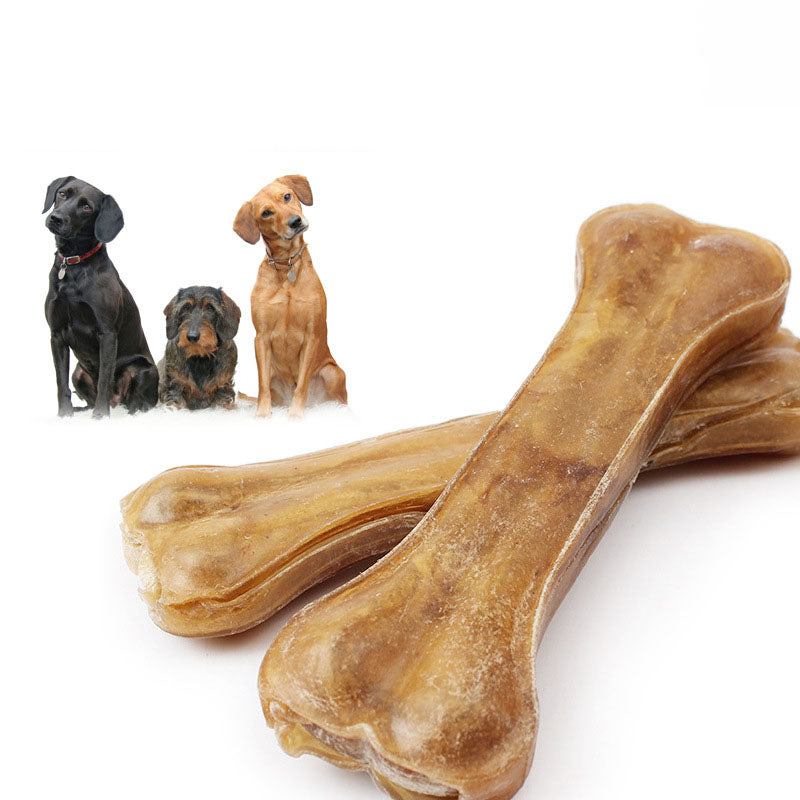 8 Sizes Durable Pressed Rawhide Dog Chew Bones