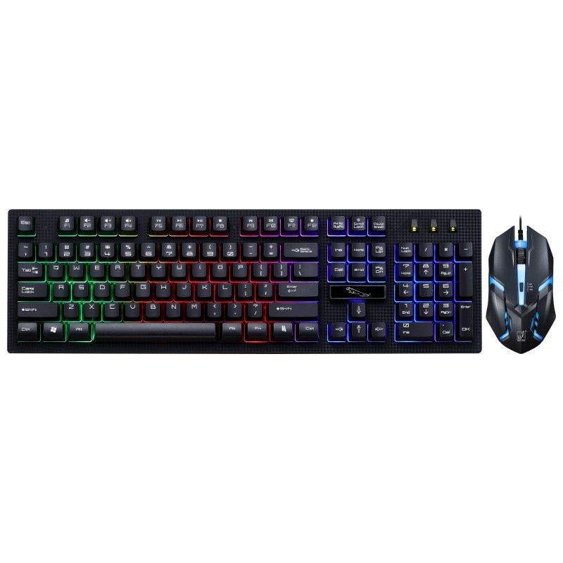 G20 USB RGB LED Backlit Wired Keyboard and Mouse Combo