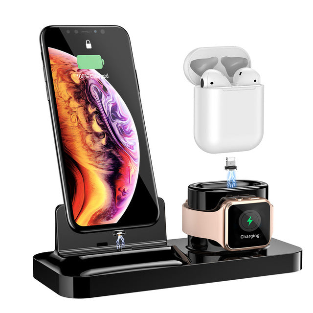 RAXFLY iPhone Charger Dock With Wireless Charging - Optional 3 in 1 For Airpods iPhones & Apple Watches