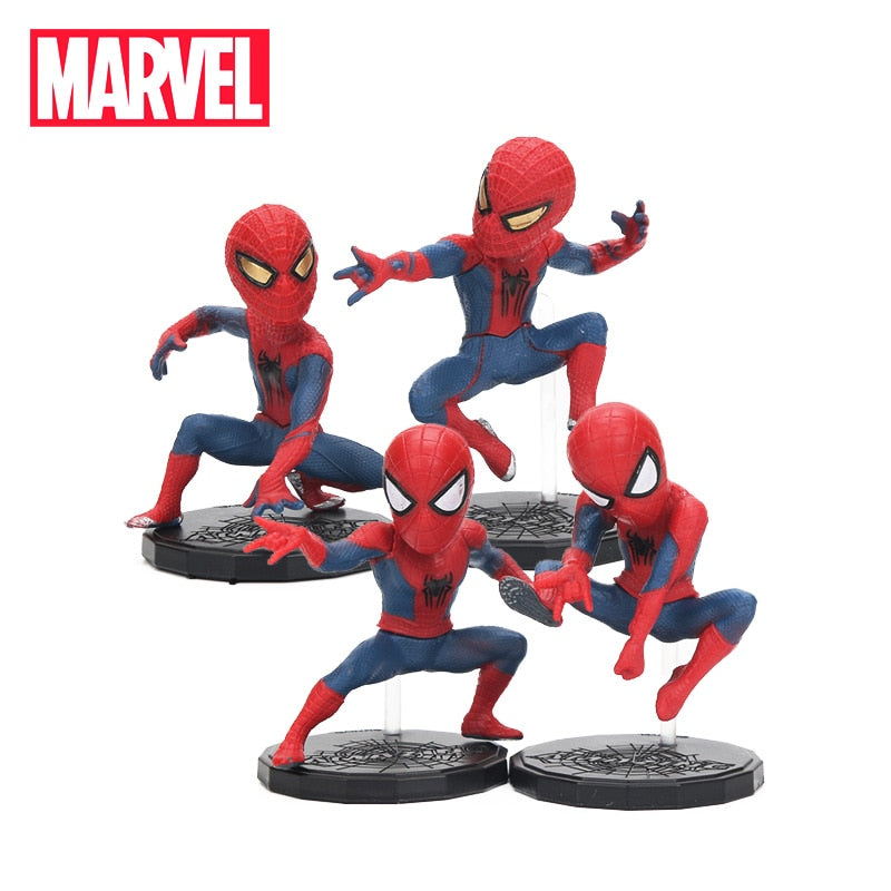 6.5-8cm Marvel Toys Avengers Endgame Mini Spiderman 4 Piece Set