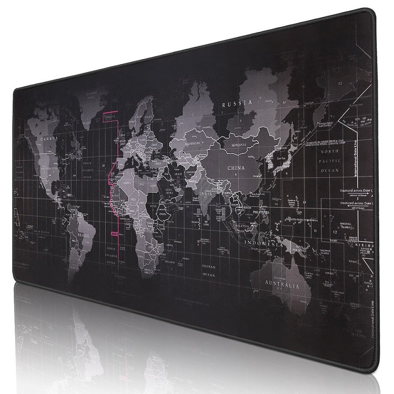 Large Gaming Mouse Pad World Map