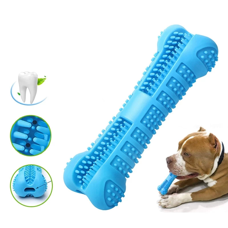 Durable Rubber Dental Chew Toy With Toothpaste Reservoir