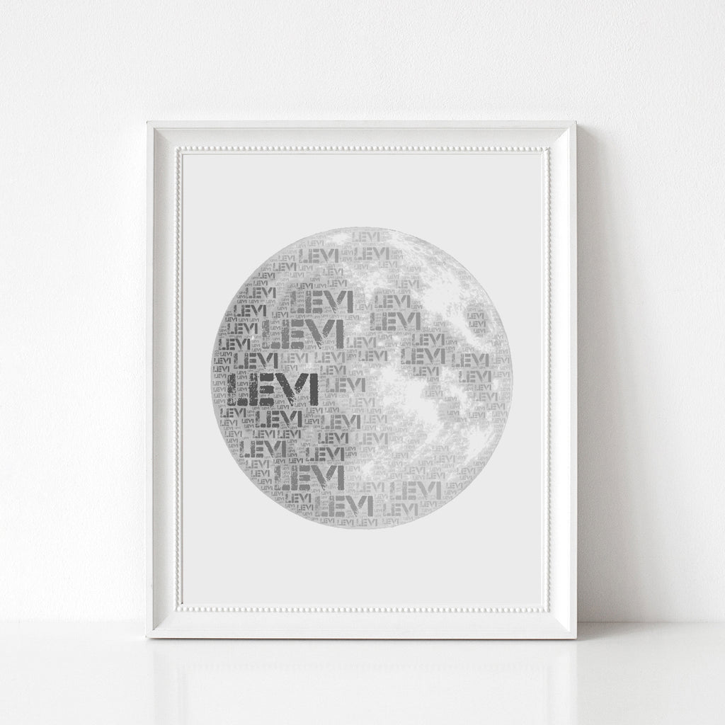 Personalized Moon Art Print