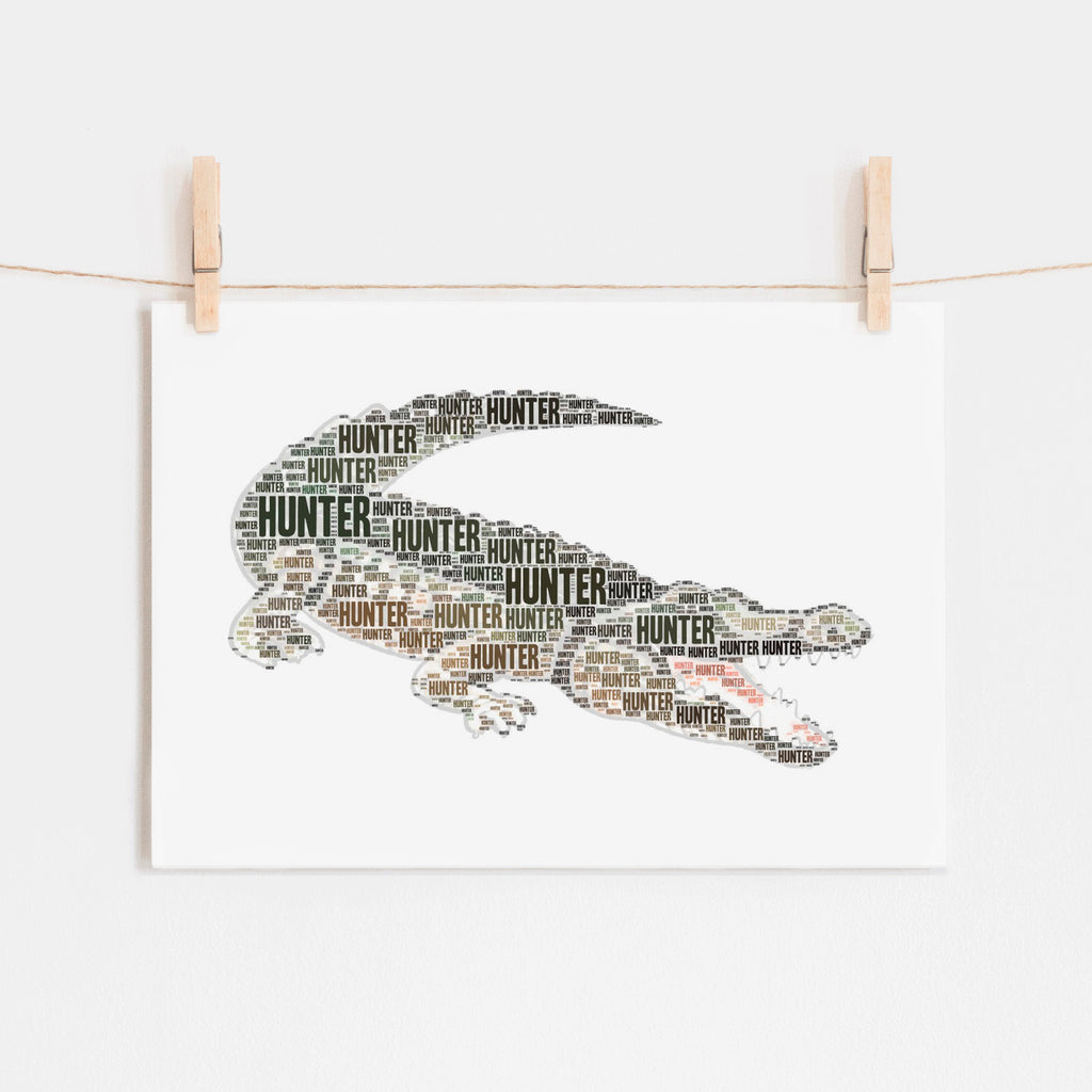 Personalized Alligator Art Print