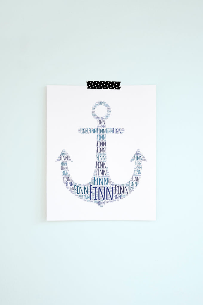 Personalized Anchor Print