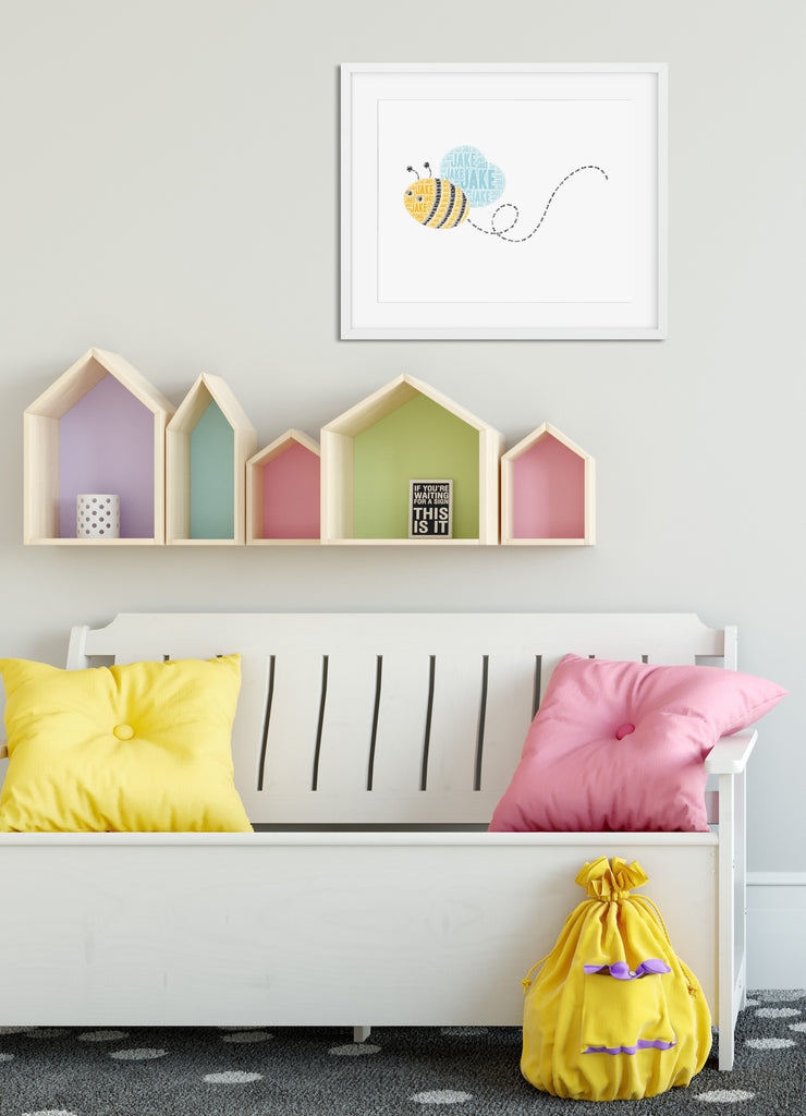 Personalized Bee Art Print