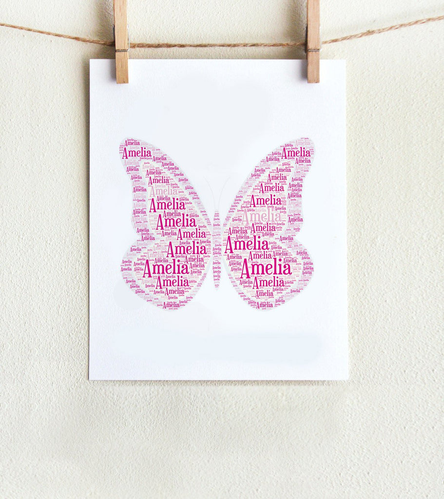 Personalized Butterfly Art Print