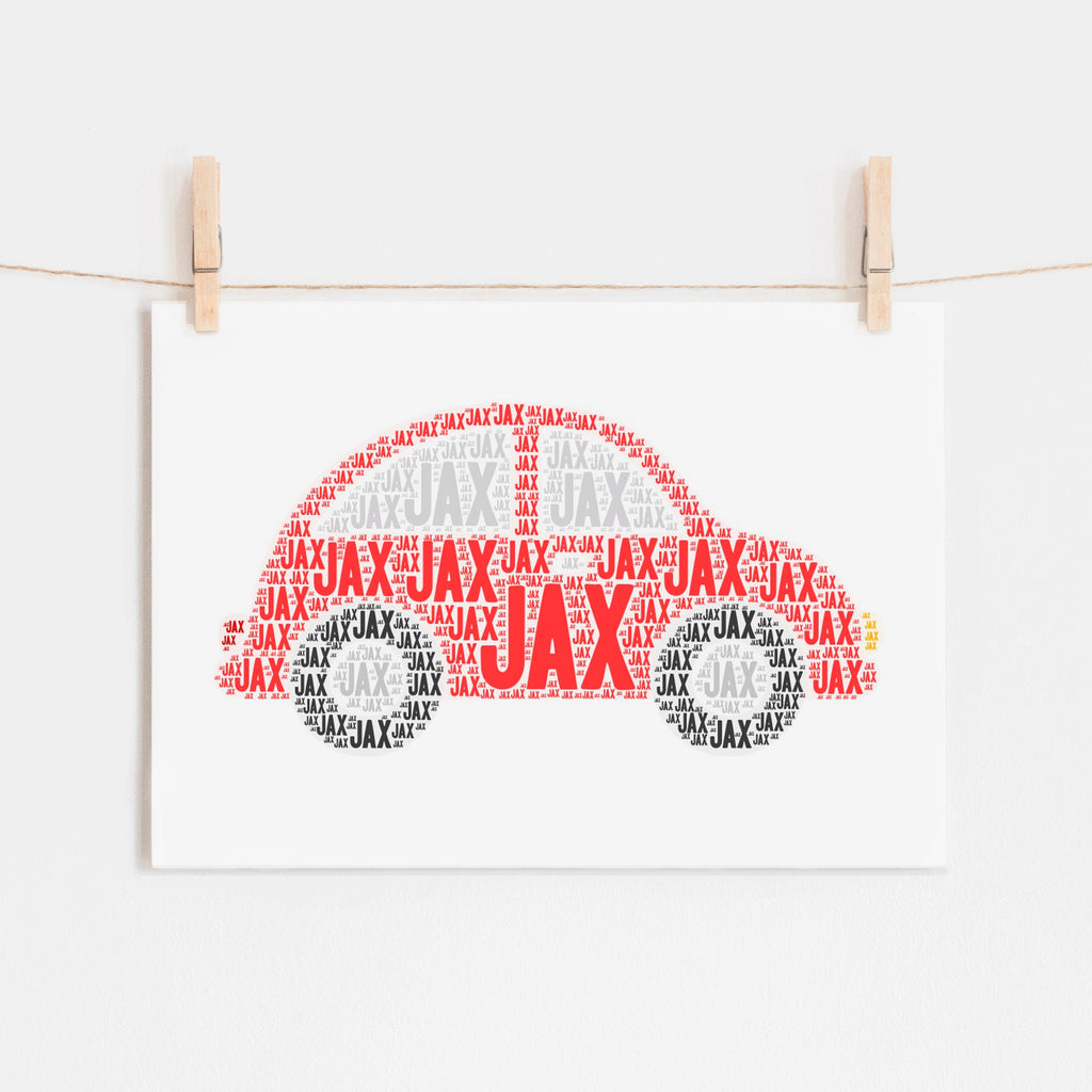 Personalized Car Art Print