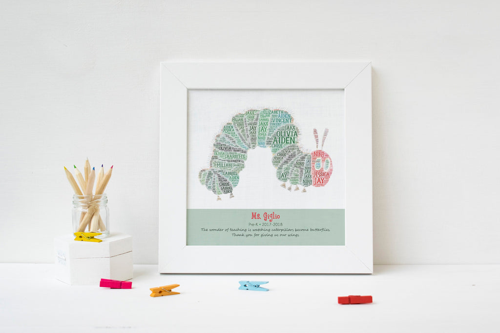 Personalized Caterpillar Teacher Gift Print