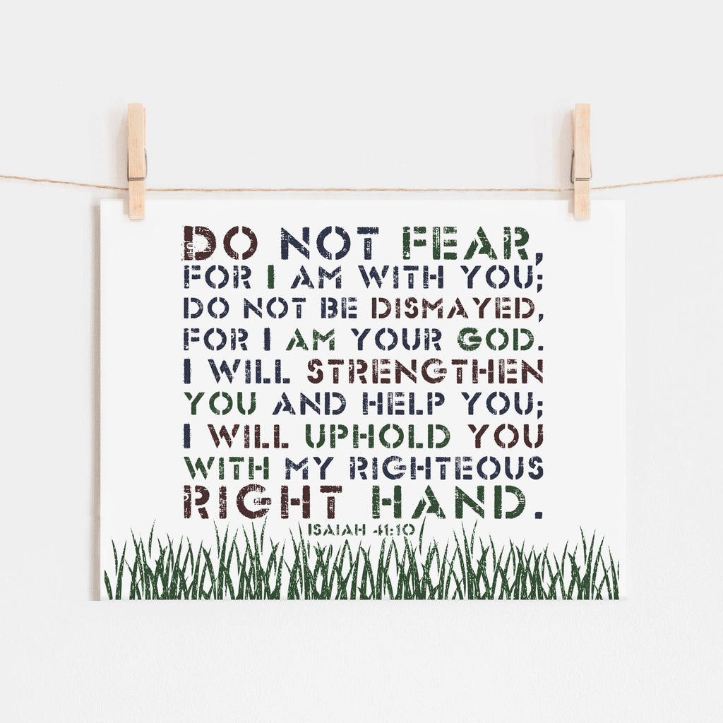 Scripture Print for Kids - Do not fear for I am with you
