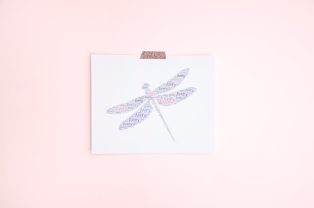 Personalized Dragonfly Art Print
