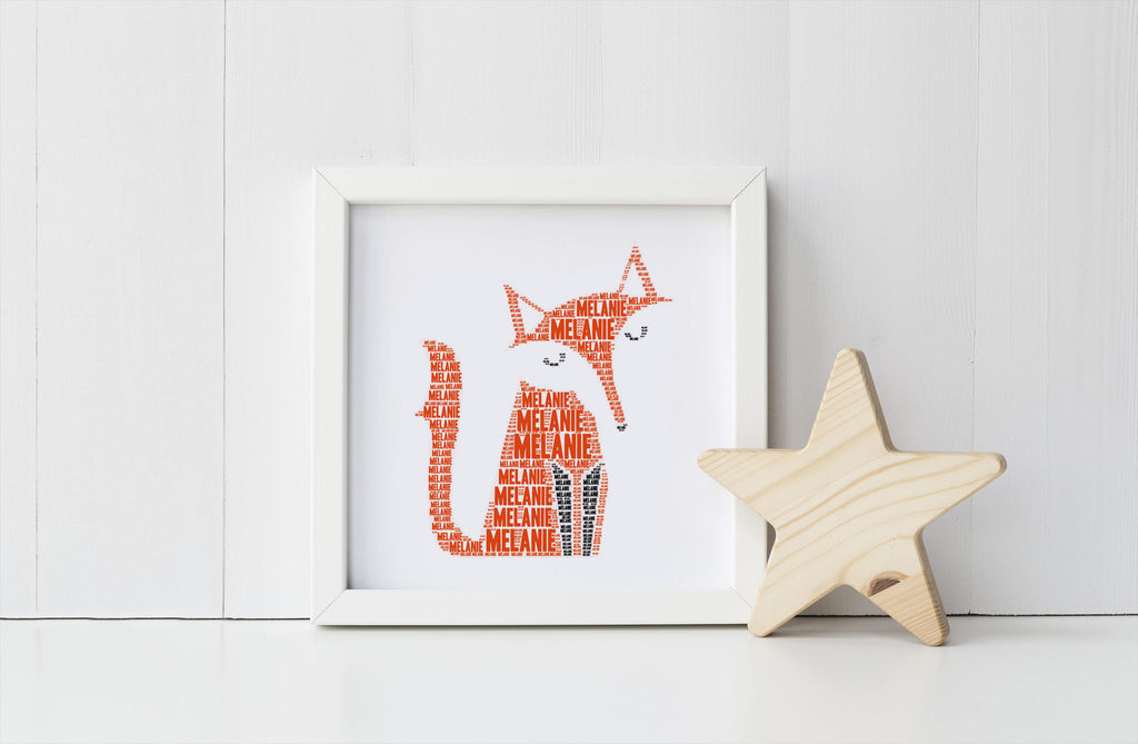 Personalized Fox Art Print