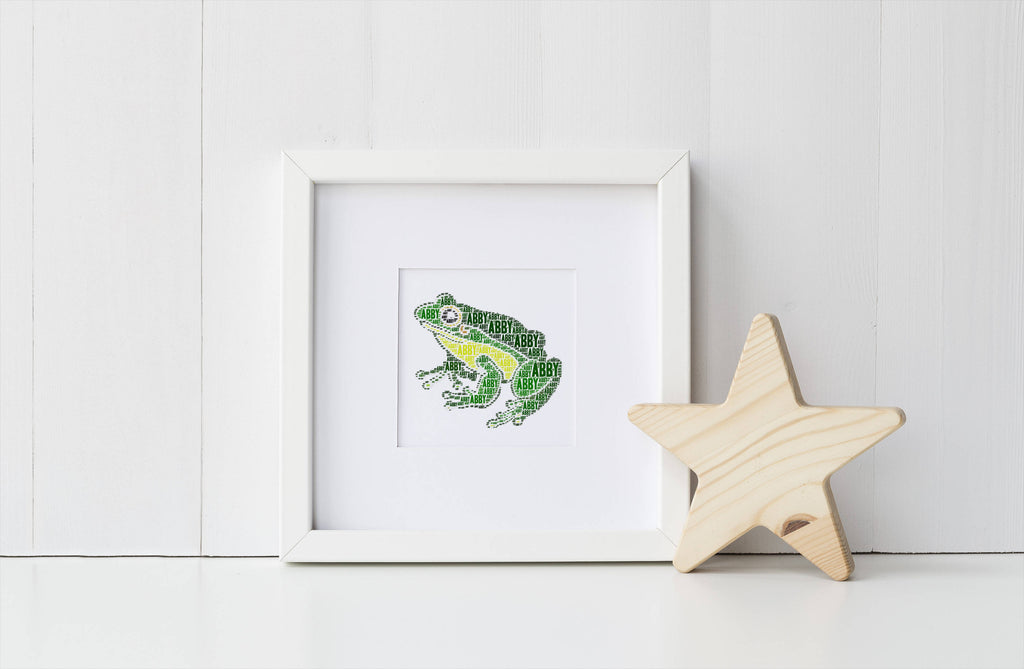 Personalized Frog Art Print