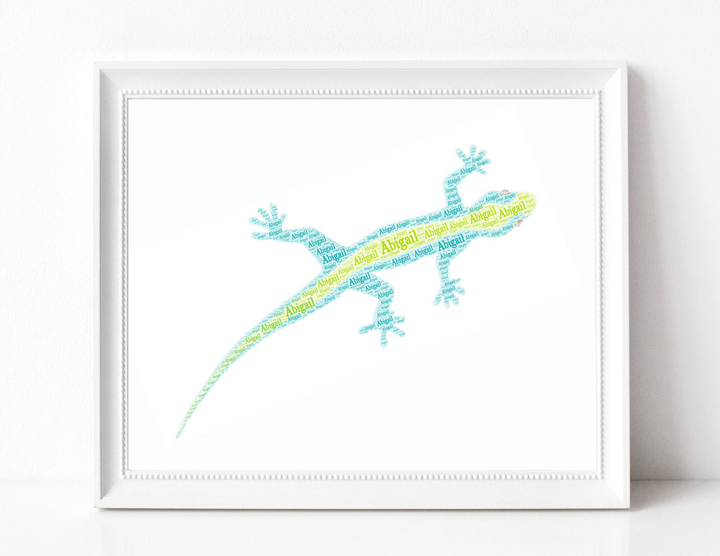 Personalized Gecko Art Print