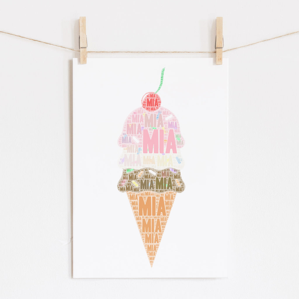 Personalized Ice Cream Print