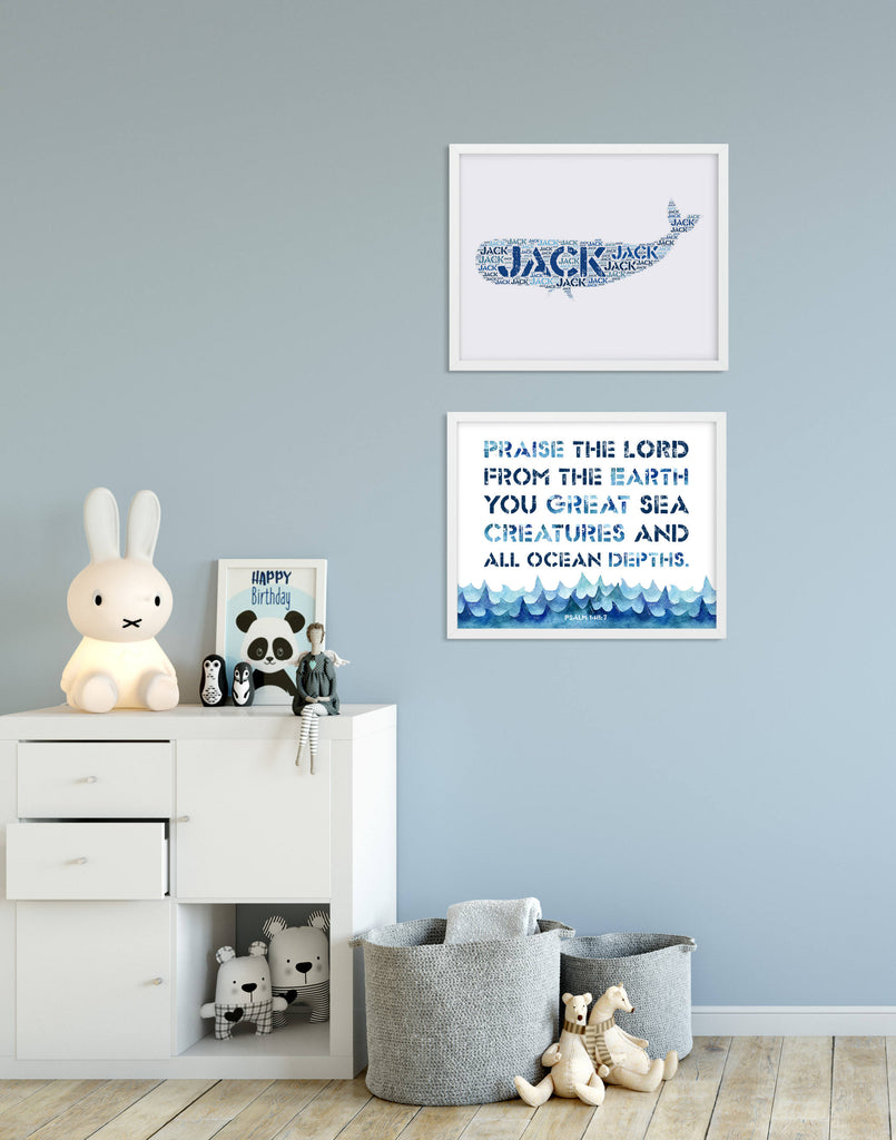 Scripture Print for Kids - Praise the Lord from the Earth