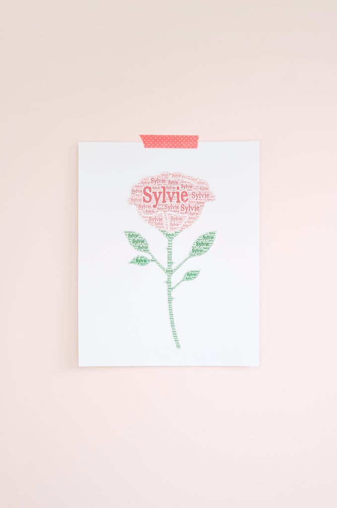 Personalized Rose Art Print