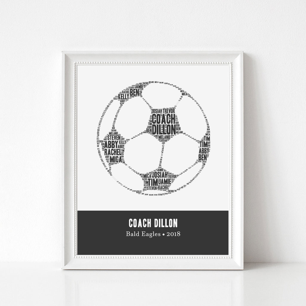 Personalized Soccer Coach Gift Print