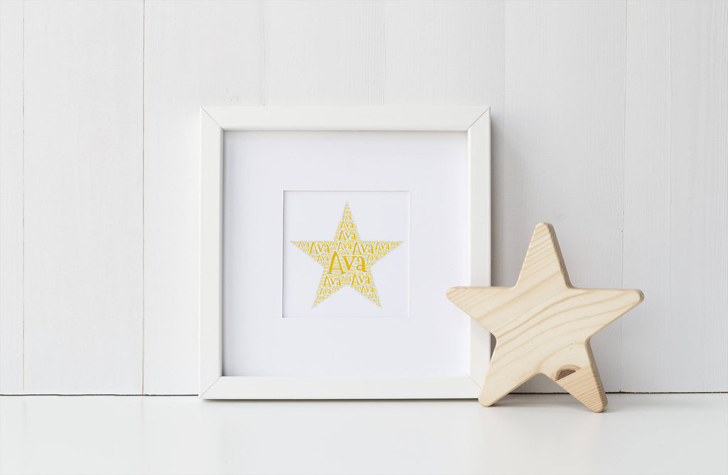 Personalized Star Art Print
