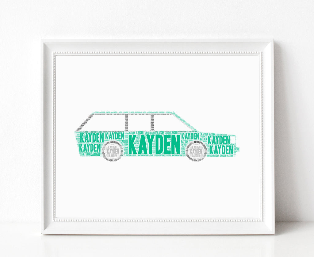 Personalized Station Wagon Art Print