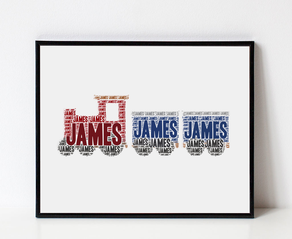 Personalized Train Art Print