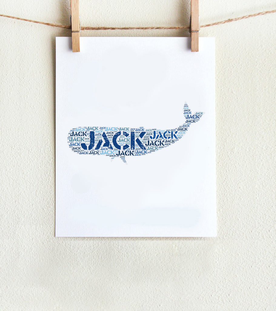 Personalized Whale Art Print