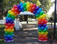 How to Make a Rainbow Balloon Arch
