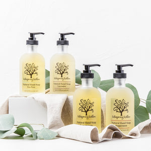 Whispering Willow - Basil & Bergamot Hand Soap - 8oz Glass Pump