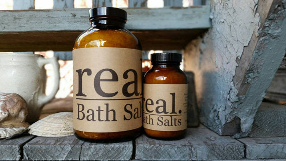 Real. Soaps - Bath Soak Muscle Soak 8 oz